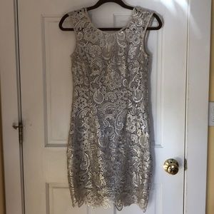 Silver lace dress perfect for NYE!